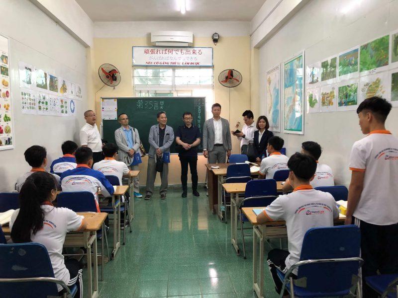 Lớp học của thực tập sinh Nhật Bản tại Hanoilink